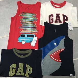3T boys baby gap NWT tank tops